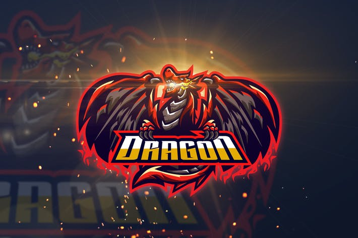 Thumbnail for Dragon - AI and PSD eSport Logo Template