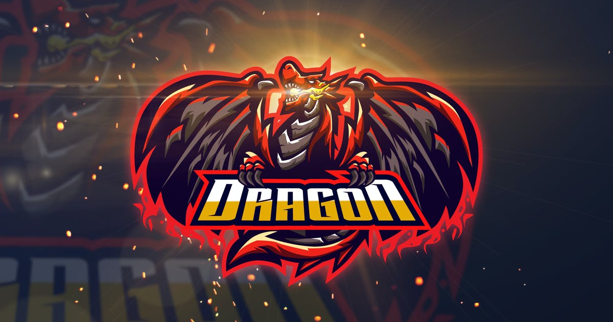 Download Dragon - AI and PSD eSport Logo Template by Graphiqa