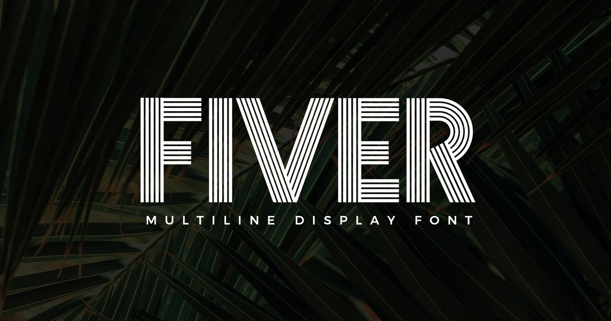 Download Fiver - Display Font by andrewtimothy
