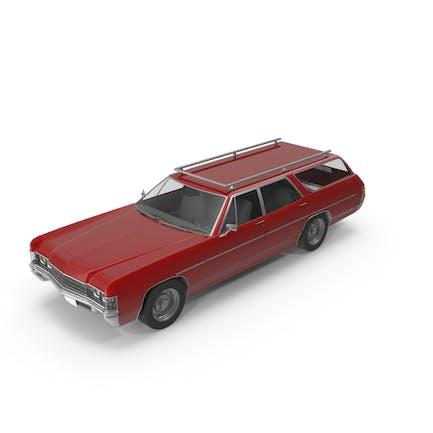Винтажный автомобиль Красный