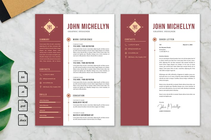 Thumbnail for Professional CV And Resume Template John