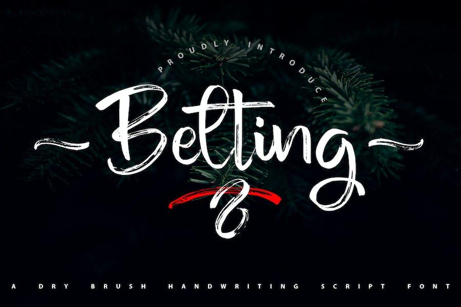 Belting | Dry Brush Handwriting Script Font