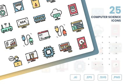 Computer Science Icons Set