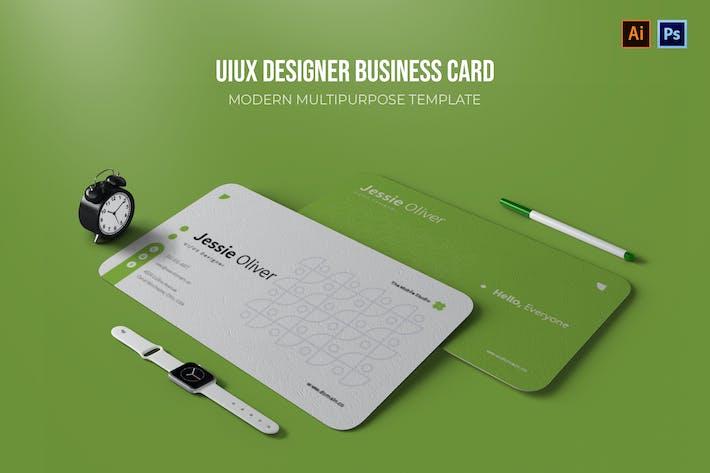 UIUX Designer - Business Card