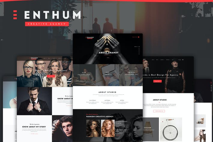 Thumbnail for Enthum - Agency & Portfolio PSD Template