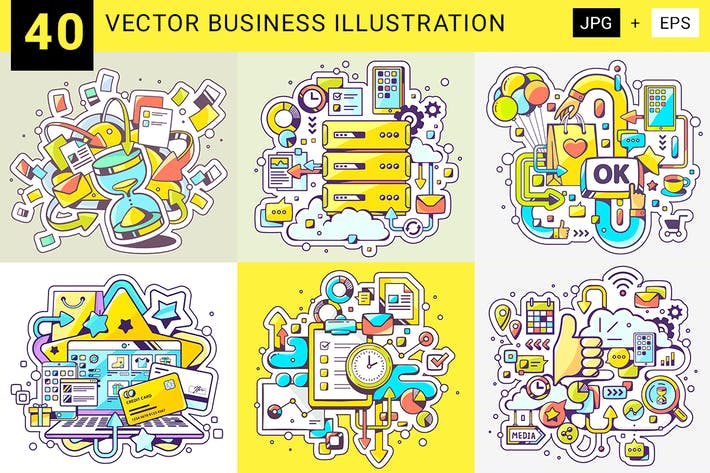 Thumbnail for Business-Illustrationen