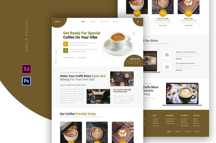 Thumbnail for Boutique de café   Email Newsletter
