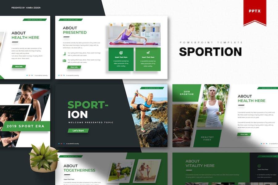 Sportion   Шаблон Powerpoint