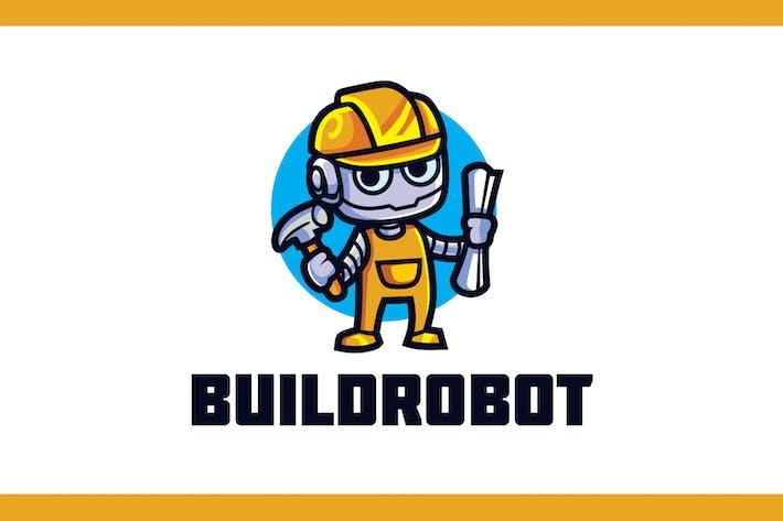 Thumbnail for Logo de mascotte robot constructeur de dessins animés