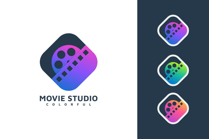 Thumbnail for MOVIE MEDIA COLORFUL LOGO TEMPLATE