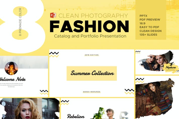 Thumbnail for Minimal Fashion Catalog & Photography Powerpoint