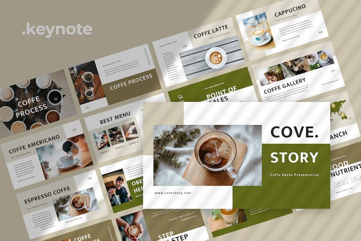 Thumbnail for Cove Story - Restaurant Keynote Template