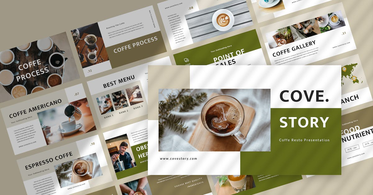 Download Cove Story - Restaurant Keynote Template by TMint