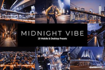20 Midnight Vibes Lightroom Presets & LUTs