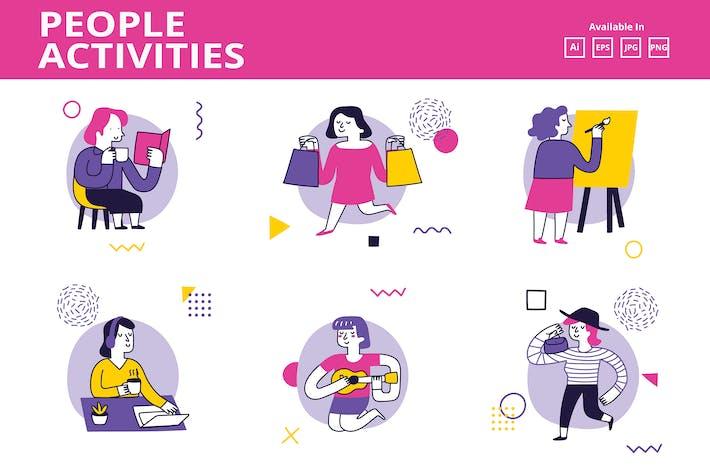 Thumbnail for Women/ Girl activities doodle