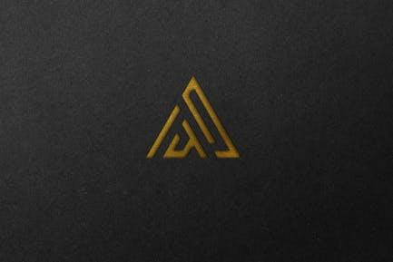Embossed Engraved Logo Mockup