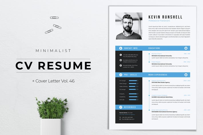 Thumbnail for Minimalist CV Resume Vol.46
