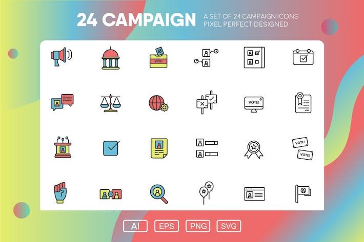 Pack d'icônes de campagne