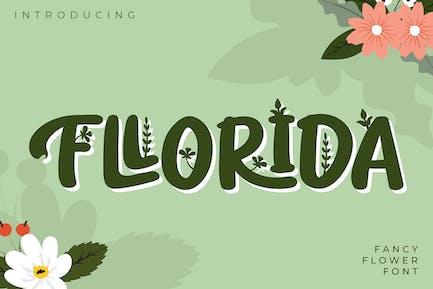 Fllorida | Fancy Flower Font