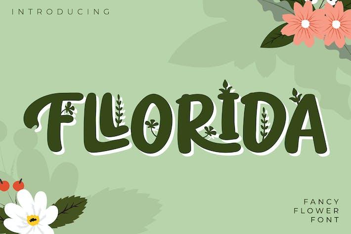 Thumbnail for Fllorida | Fancy Flower Font