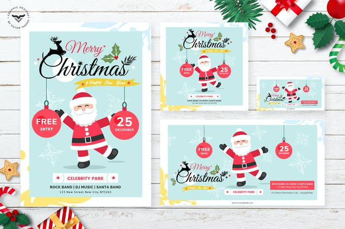 Thumbnail for Christmas Flyer & Social Media Pack Template