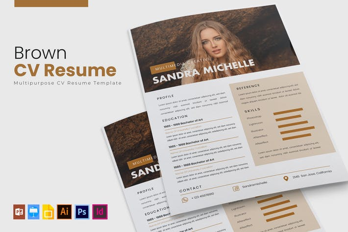 Thumbnail for Brown | CV & Resume