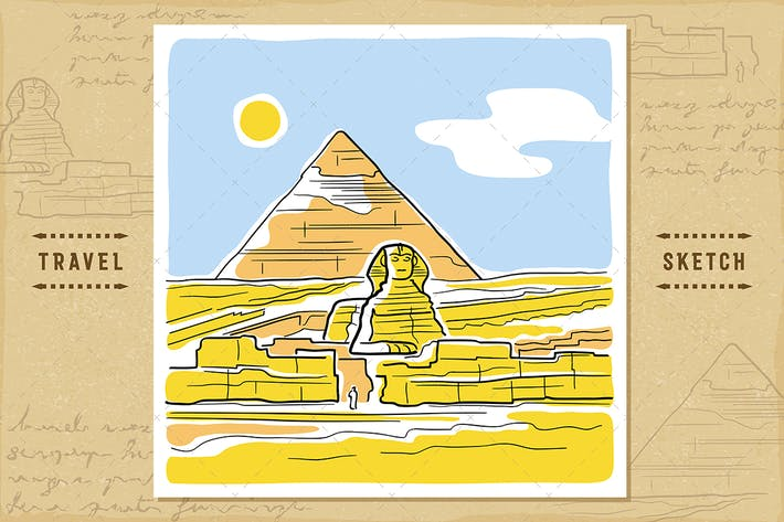 Cover Image For The Sphinx And The Great Pyramid