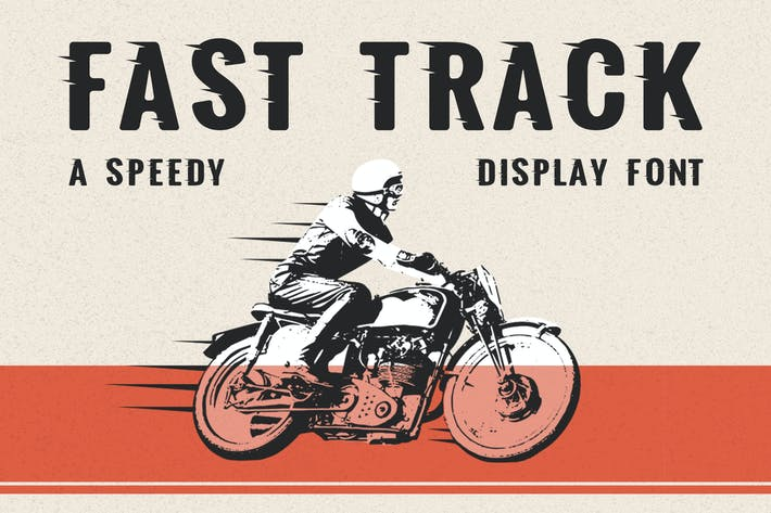 Thumbnail for Fast Track - A Speedy Display Font