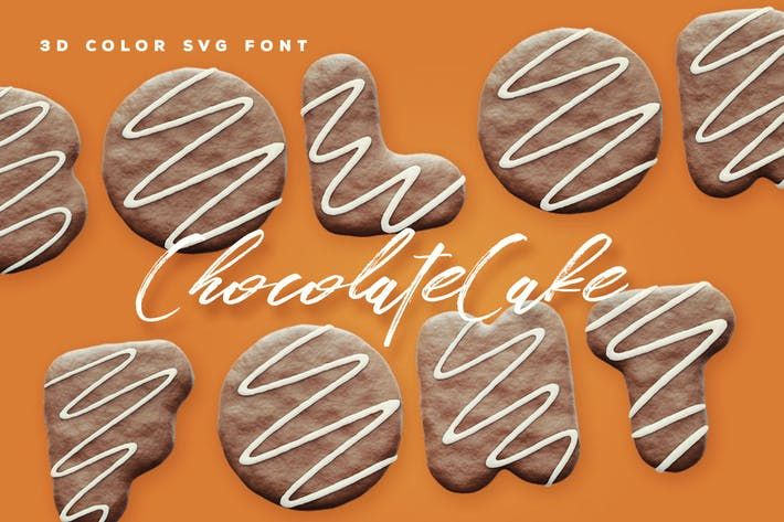 Thumbnail for Chocolate Cake Color Font