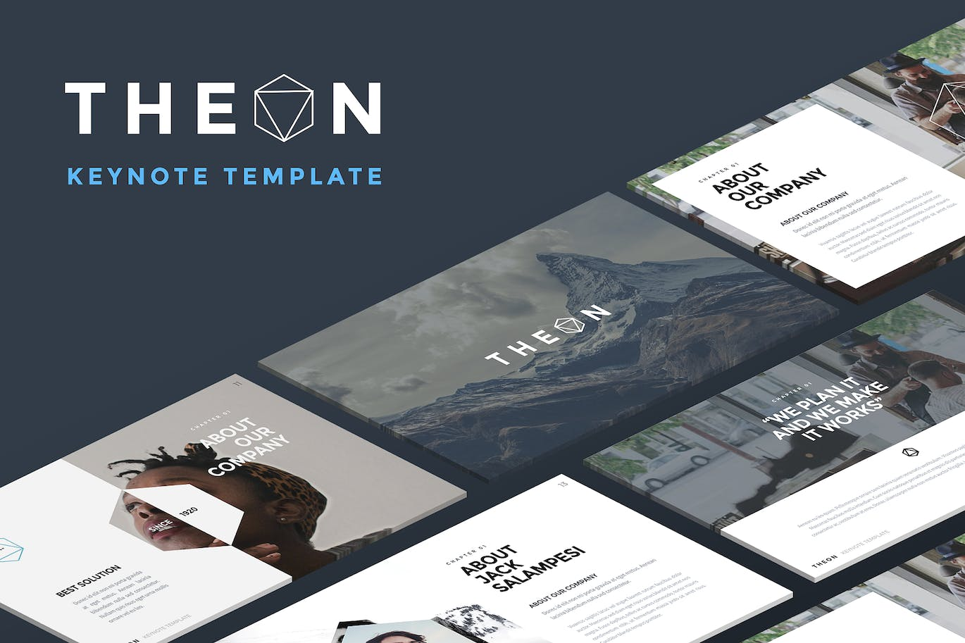 Theon Keynote Template By Slidehack On Envato Elements