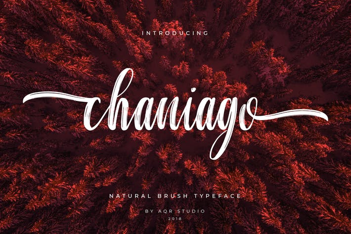 Thumbnail for Chaniago Natural Brush Typeface