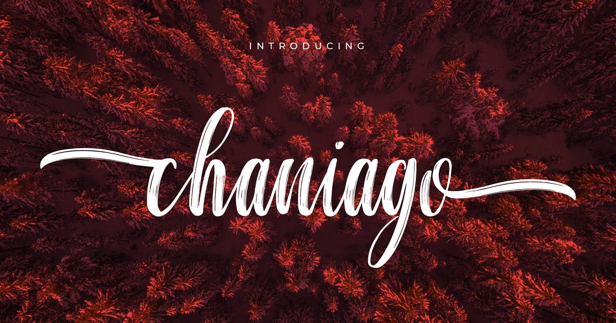 Download Chaniago Natural Brush Typeface by aqrstudio