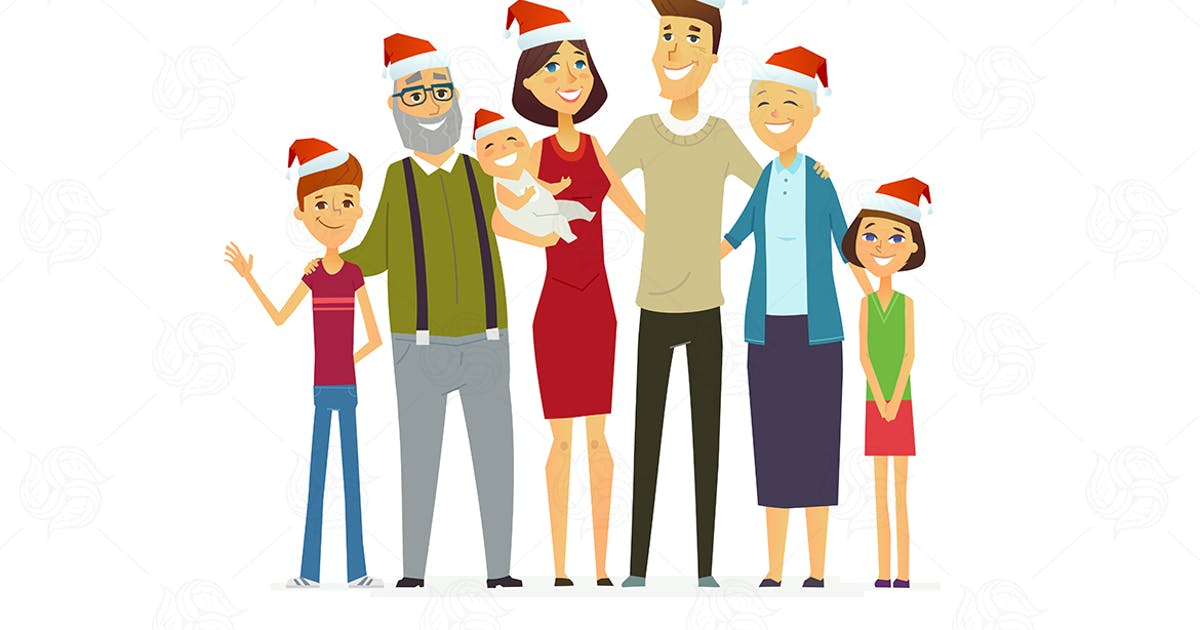 Download Family on Christmas - modern vector illustration by BoykoPictures