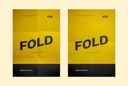 Flyer Paper Fold Mockup