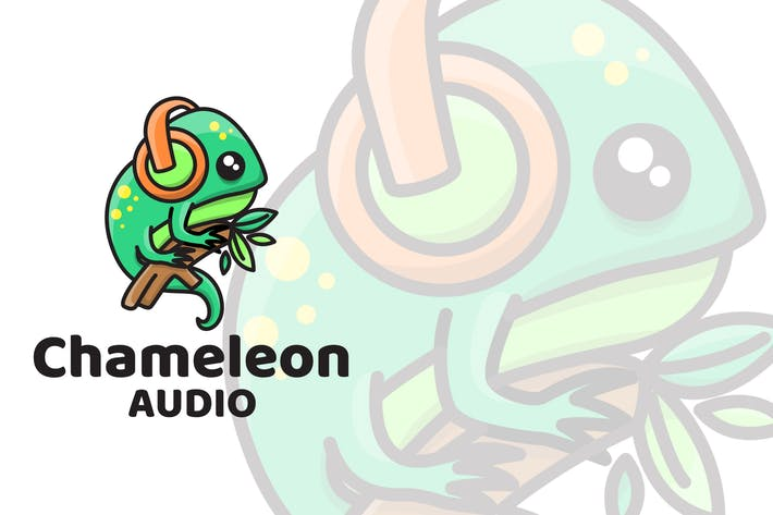 Thumbnail for Chameleon Audio Cute Logo Template