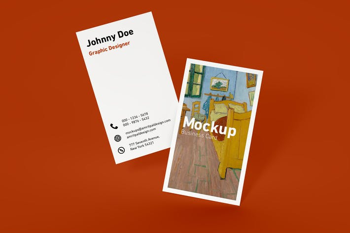 Thumbnail for Minimal Vertical Business Card Mockup
