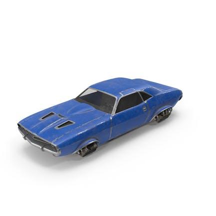 Fliegendes Auto Blau