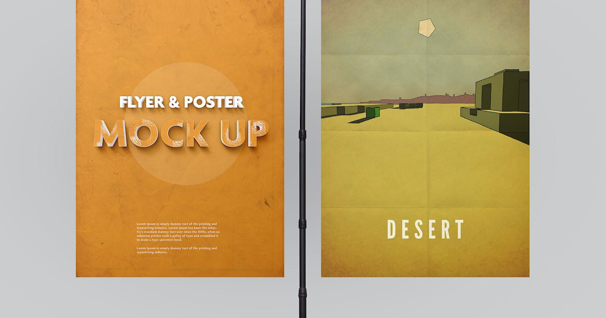 Download Poster Mockup vol.2 / 10 Different Images by PuzzlerBox