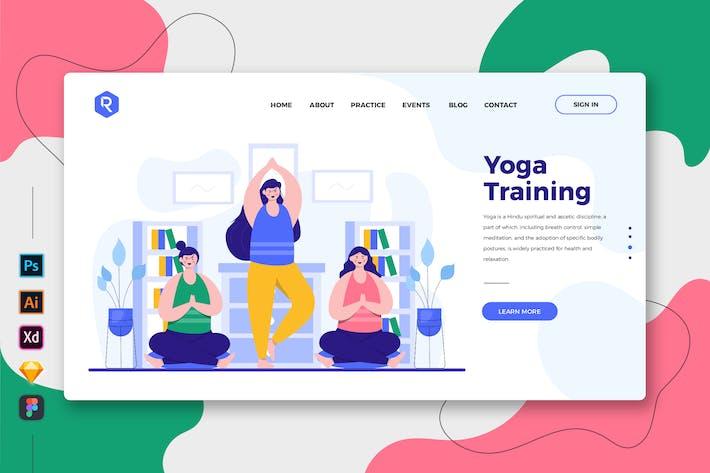 Thumbnail for Yoga Training - Web & Mobile Landing Page