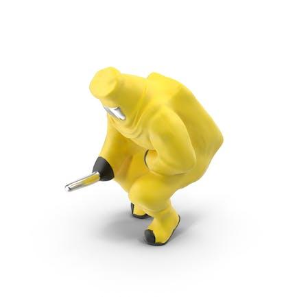 Material peligroso en miniatura