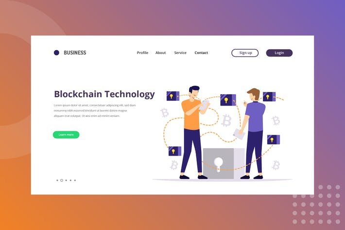Thumbnail for Blockchain Technology Landing Page
