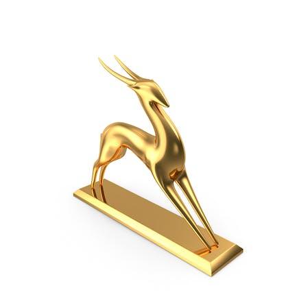Antilope Skulptur Gold