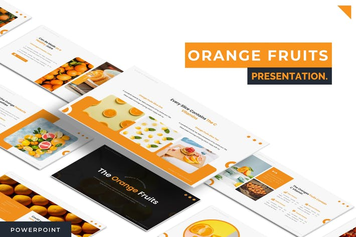Thumbnail for Orange Fruits - Powerpoint Template