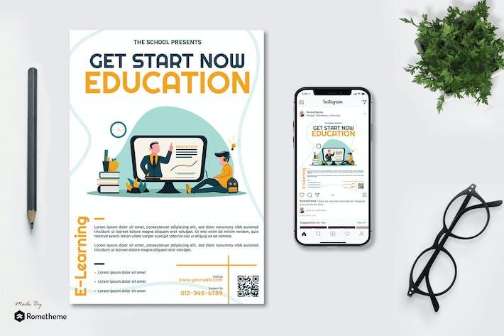 Thumbnail for Online Education - Flyer & Instagram vol.01 GR