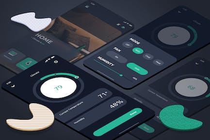 Smart Home Climate Mobile UI - FD