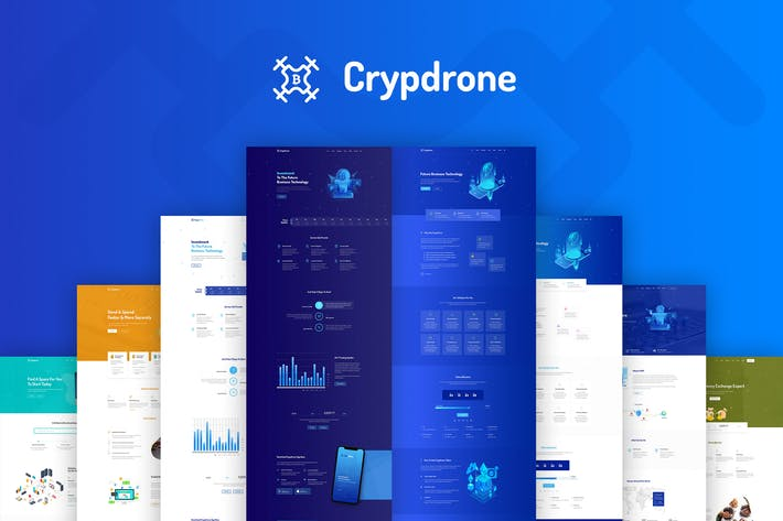 Thumbnail for Crypdrone - Multipurpose Tech HTML Template