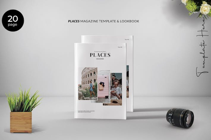 Thumbnail for Place Magazine Template Lookbook
