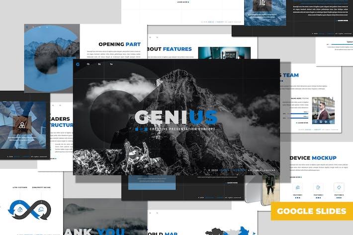 Genius - Многоцелевой Шаблон Google слайдов