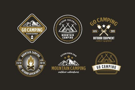 Set of Camping and Adventure Logo Badge