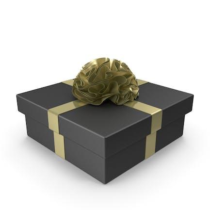 Schwarze Geschenkbox mit goldenem Band